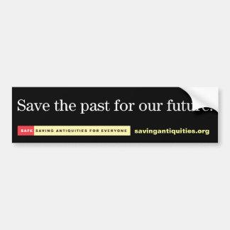 Sparen het verleden voor onze toekomstige bumpersticker