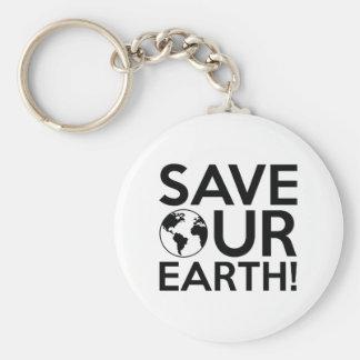 Sparen Onze Aarde Basic Ronde Button Sleutelhanger
