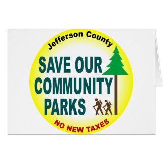 Sparen Onze Communautaire Parken Kaart