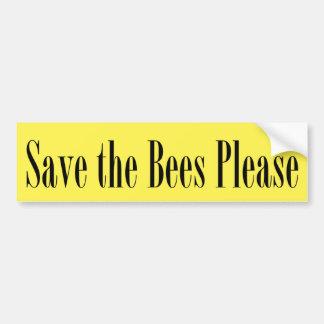 Sparen Sticker I van de Bumper van Bijen tevreden