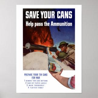 Sparen Uw Blikken -- De hulp gaat de Munitie over Poster