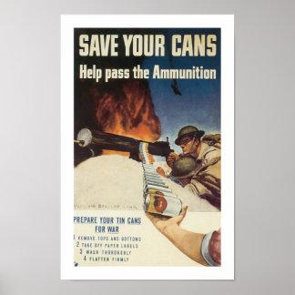 Sparen Uw Blikken Poster