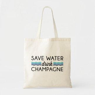 Sparen Water, Drank Champagne Draagtas