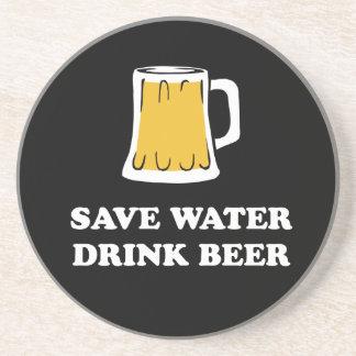 Sparen water. Drink bier Zandsteen Onderzetter