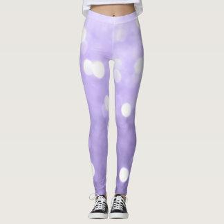 Sparkly paarse ultraviolet bokeh leggings