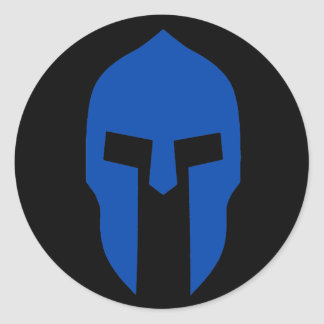 Spartaans Blauw Ronde Sticker