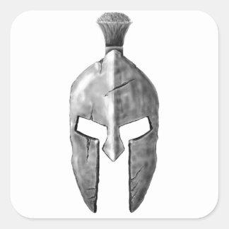 Spartaans Roer Vierkante Sticker
