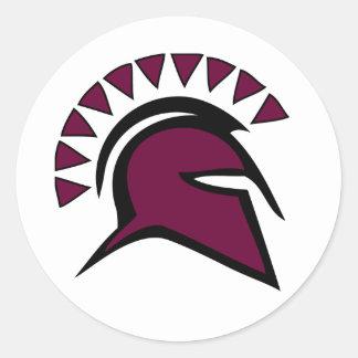 Spartaans Ronde Sticker