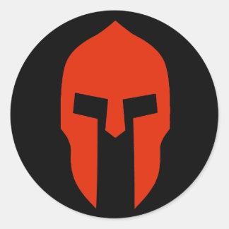 Spartaans Rood Ronde Sticker
