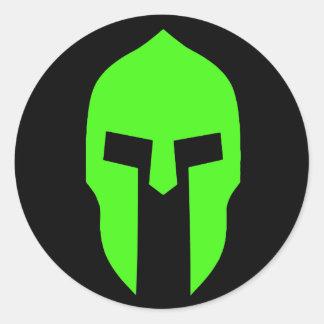 Spartaanse Groen Ronde Sticker