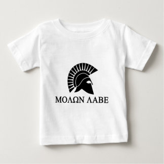 Spartaanse Helm Molon Labe Baby T Shirts
