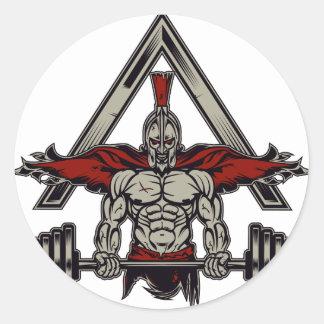 Spartaanse Strijder Ronde Sticker