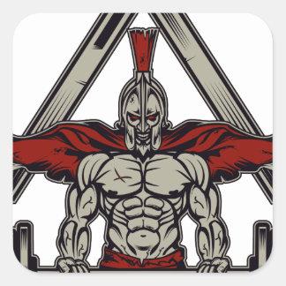 Spartaanse Strijder Vierkante Sticker