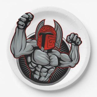 Spartaanse Trojan Mascotte Papieren Bordjes