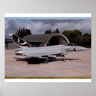 Speciale livrei van de Luchtmacht van de tyfoon de Poster