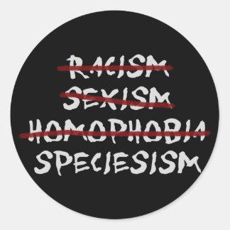 Speciesism Ronde Sticker