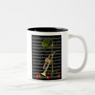 Speel de Muziek… Tweekleurige Koffiemok