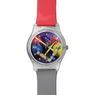 Speel de Stijl van Grunge van het Croquet Horloge