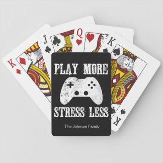 Speel Meer Spanning Minder Videospelletje Pokerkaarten