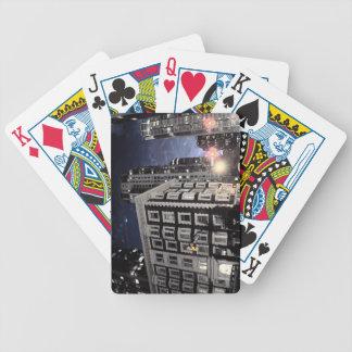 speelkaart, foto van stad de nacht pak kaarten