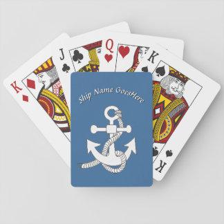 Speelkaarten - het Anker van het Schip met Naam