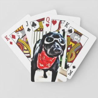 Speelkaarten met BlackDogLuke in beschermende