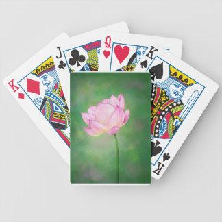 Speelkaarten met de Bloem van de Bloesem van Lotus Bicycle Speelkaarten