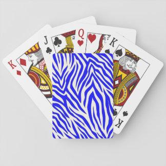 Speelkaarten met kobalt gestreept ontwerp