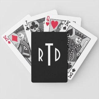 Speelkaarten met monogram pak kaarten