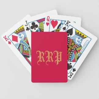 """Speelkaarten """"met monogram"""" poker kaarten"""