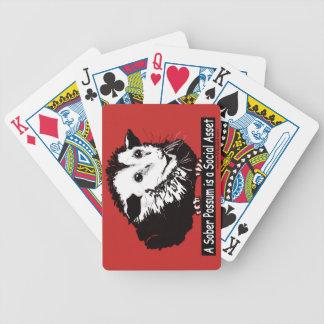 Speelkaarten met pittig opossumafbeelding poker kaarten