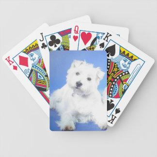 Speelkaarten van de Hond van Terrier van het Hoogl Bicycle Speelkaarten