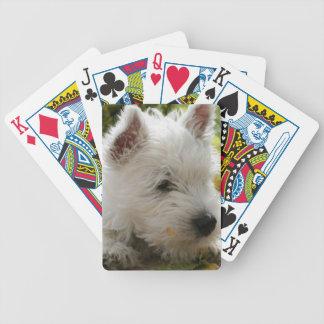 Speelkaarten van de Hond van Terrier van het Hoogl Pak Kaarten