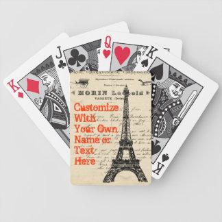Speelkaarten van de Toren van Eiffel de Vintage Fr Pak Kaarten