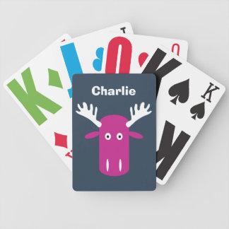 Speelkaarten van het de douanemonogram van het pak kaarten