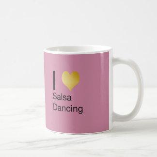 Speels het Elegante Dansen van Salsa van het Hart Koffiemok