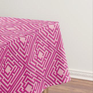 Speels Roze Labyrint op om het even welke Kleur Tafelkleed