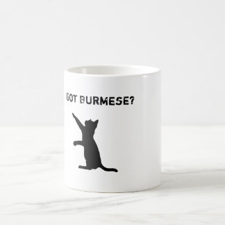 """Speelse Birmaanse Kat met """"Geworden Birmaans?"""" Koffiemok"""