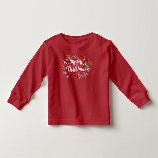 Speelse Vrolijke Kerstmis Ditsy | Lange Sleeves Kinder Shirts