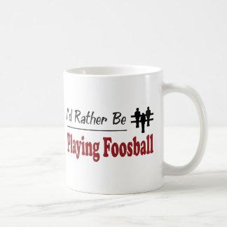Speelt eerder Foosball Koffiemok