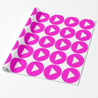 Spel - roze pictogram cadeaupapier