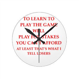 spel speler ronde klok