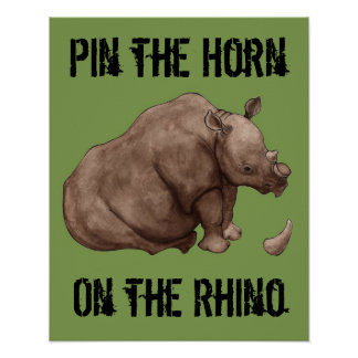 Speld de Hoorn op het Poster van de Rinoceros