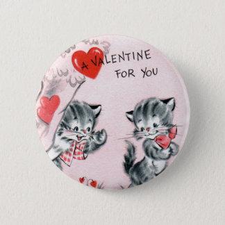 Speld van Valentijn van het Katje van het kind de Ronde Button 5,7 Cm