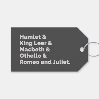 Spelen I van Shakespeare Cadeaulabel