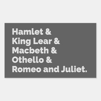 Spelen I van Shakespeare Rechthoekige Sticker