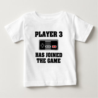 Speler 3 heeft zich bij het grappige nieuwe het baby t shirts