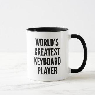 Speler van het Toetsenbord van werelden de Mok
