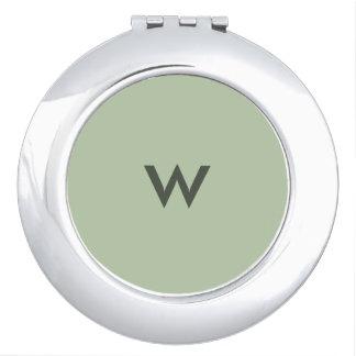 Spiegel de Met monogram van de Jade van Grayed Make-up Spiegels