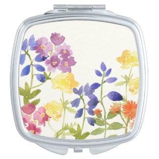 Spiegel van de Bloemen van Watercolour de Wilde Make-up Spiegeltje
